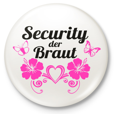 Button Security der Braut (weiß)