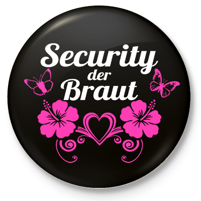 Button Security der Braut (schwarz)