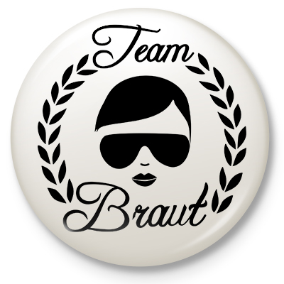 Button Lorbeer Team Braut