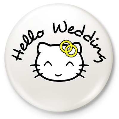 Button Hello Wedding