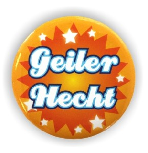 Button Geiler Hecht