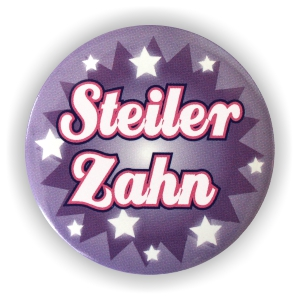 Button Steiler Zahn