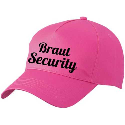 Cap Braut Security Pink-Schwarz