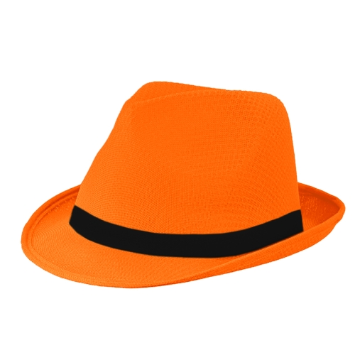 Mafia Hut Blanko Orange Schwarz