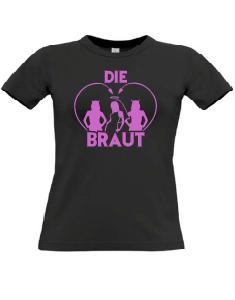 0bd9aafb004b87 Junggesellenabschied T-Shirts mit dem Motiv Die Braut