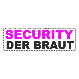 Strass Security der Braut mit Umrandung