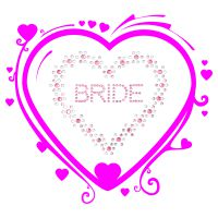 Strass Heart bride