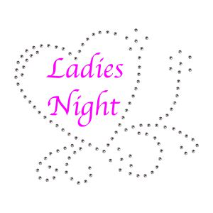 Strass Ladies Night Herz