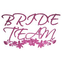 Strass Bride Team Schnörkel